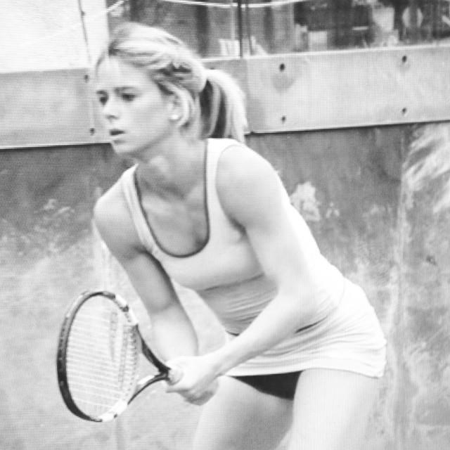 Camila playing Tennis