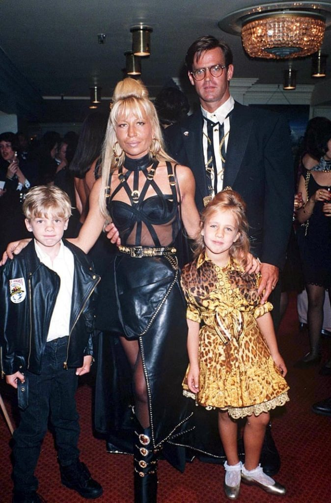 Paul with his ex-wife, Donatella and her children
