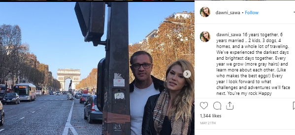 dawni sahanovitch wished her husband on the occasion of their anniversary