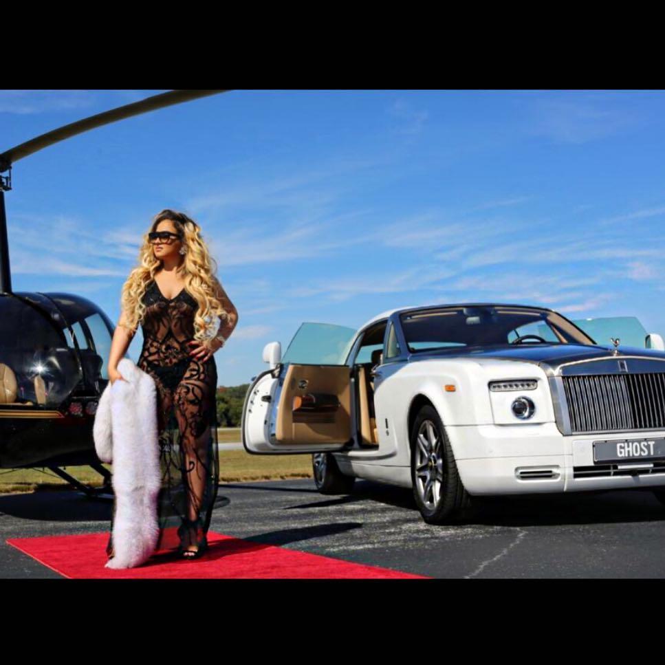 Jojo and her Rolls Royce