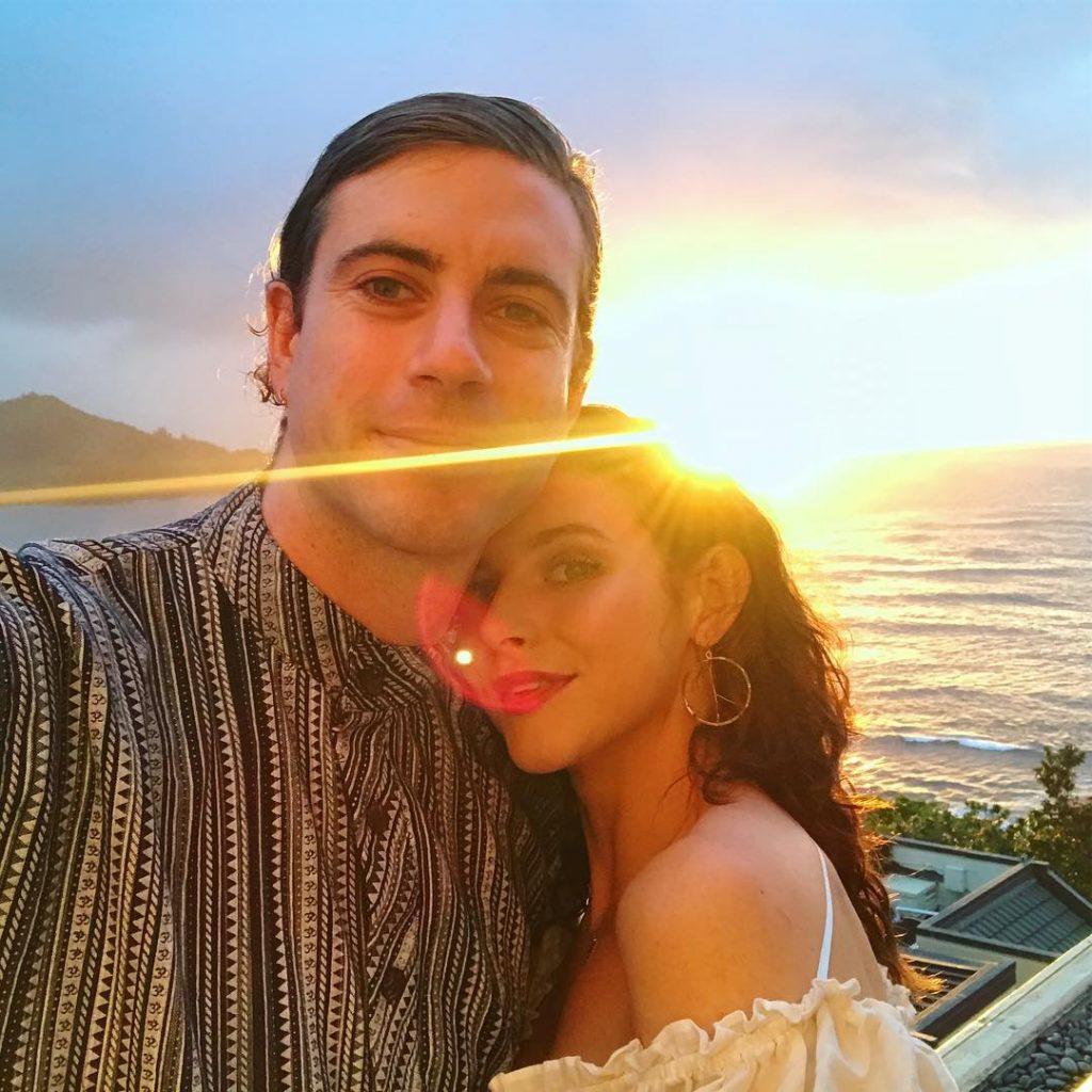Georgia with her boyfriend Jake on Vancation