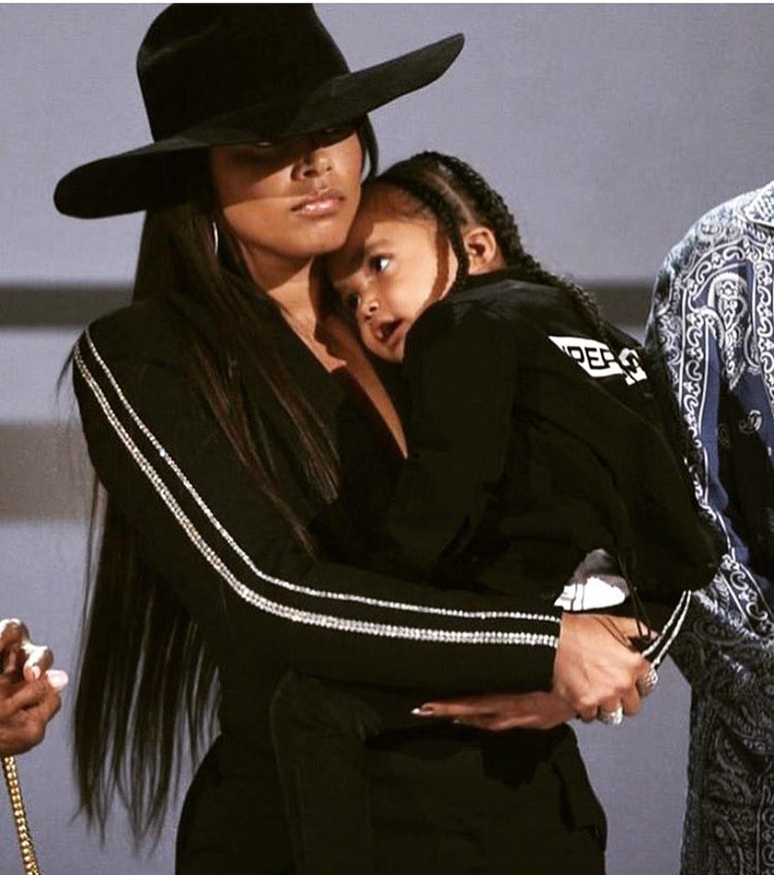 Lauren with Nipsey and her daughter