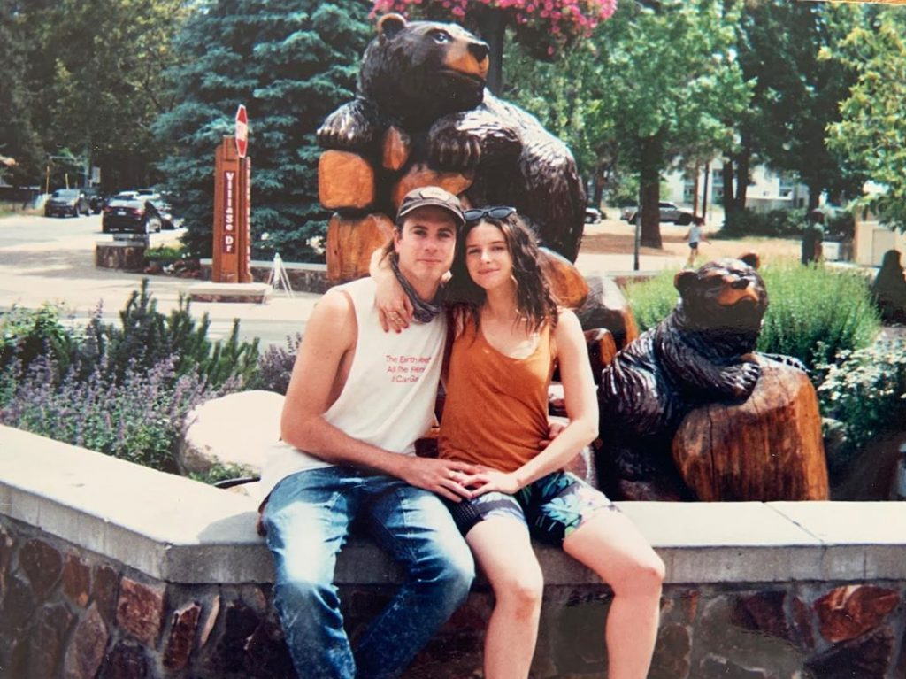 Flood with her boyfriend, Jake