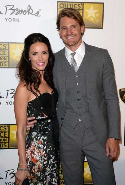 Abigail Spencer with her ex husband Andrew Pruet