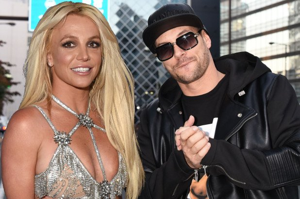 Kevin Federline with his ex wife Britney Spears