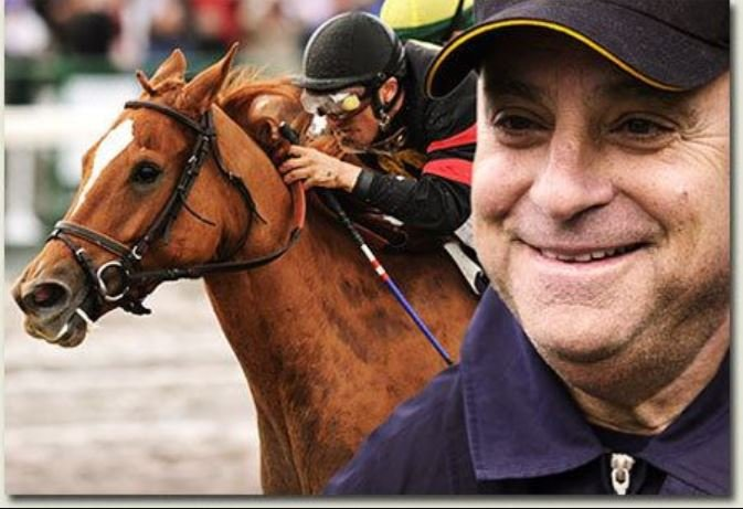 Photo of Robert J. Frankel while riding a horse.