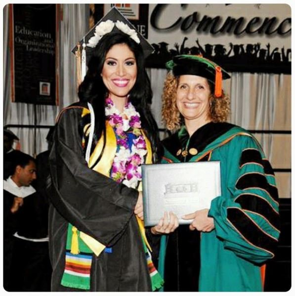 Mary Castro graduating from the University of La Verne.