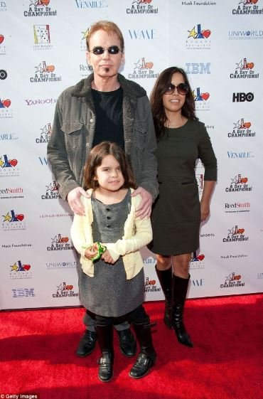 Billy Bob Thornton and his wife, Connie Angland with their daughter, Bella at an award function.