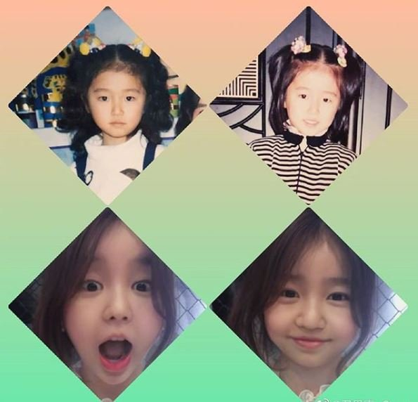 Childhood photos of Yoon Eun-Hye.