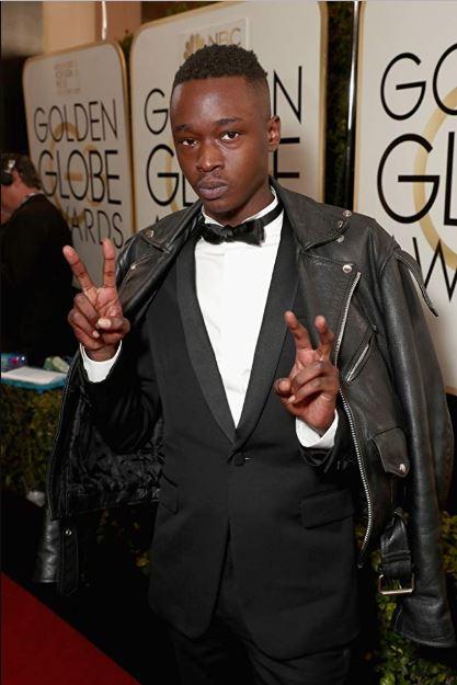 Ashton Sanders arrived at an event for 74th Golden Globe Awards in 2017.