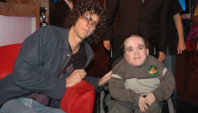 Eric the Actor with his friend, Howard Stern.