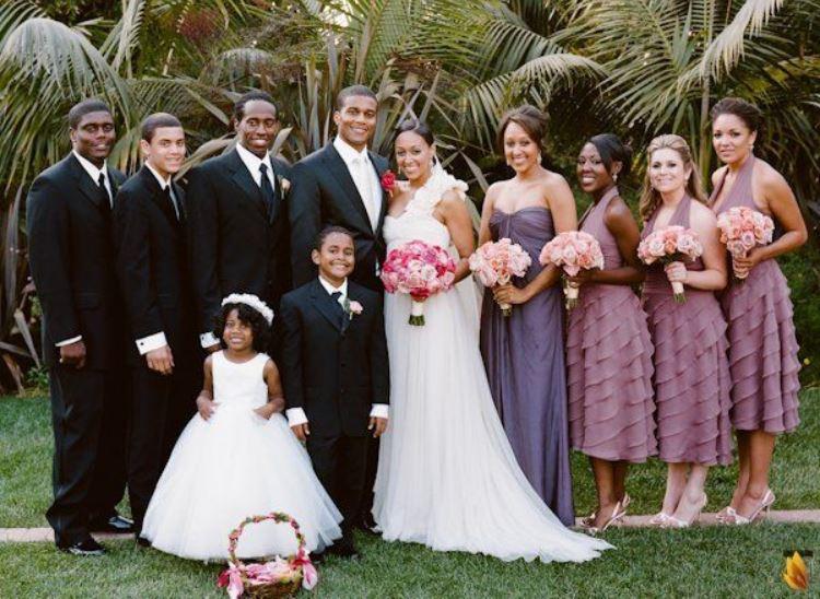 Darlene Mowry's twin daughter, Tia Mowry & Cory Hardrict wedding.