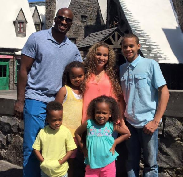 Chrystal and her husband, Akbar Gbaja-Biamila enjoying quality time with their children.