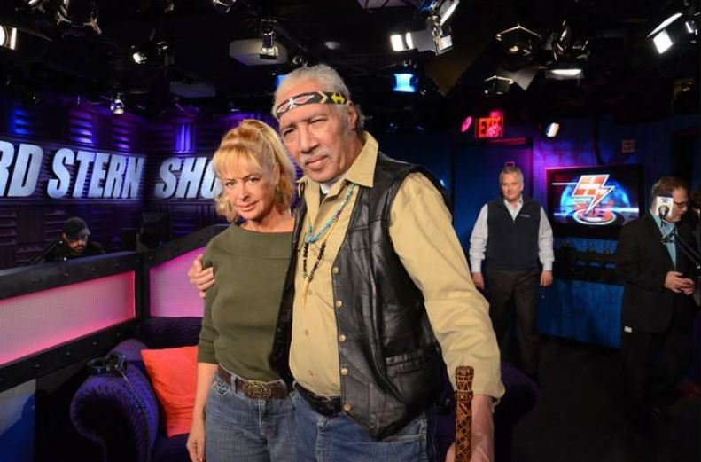Riley Martin with his wife, Joy on the set of The Howard Stern Show.