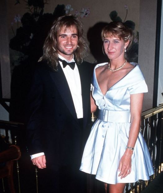 Jaden Gil's father, Andre Agassi and his mother, Steffi Graf's wedding.