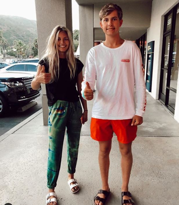 Maksim Bure with his probable girlfriend