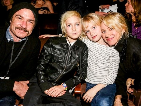 Madeleine Favreau with her family.