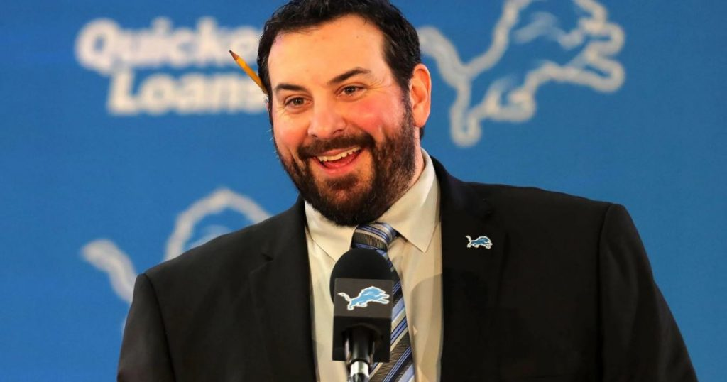 The smiling face of Matt Patricia.