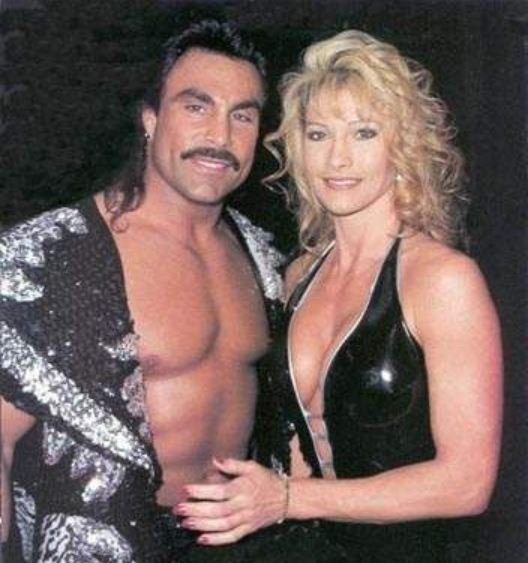 Duke Lesnar's mother, Sable with her ex-husband, Marc Mero.