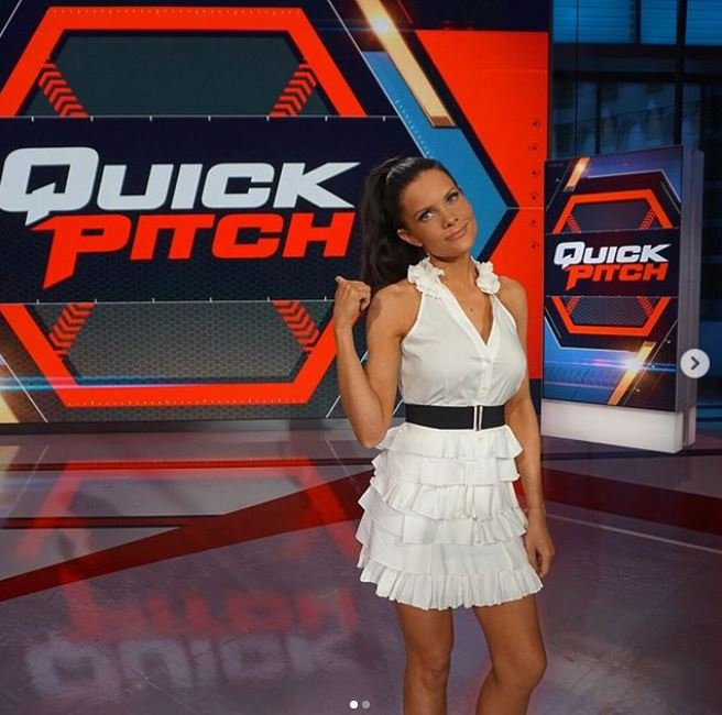 Kelly Nash on the set of Quick Pitch.
