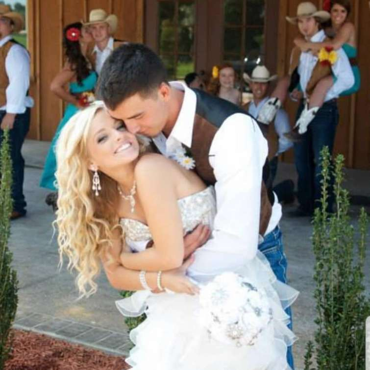 Mackenzie McKee and her husband, Josh McKee spreading love at their wedding ceremony.