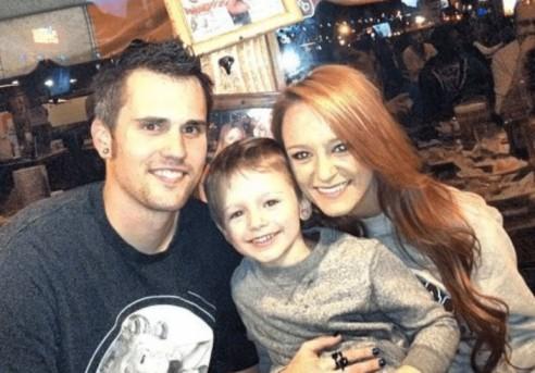 Bentley Cadence Edwards with his parents, Richard and Maci Bentley.