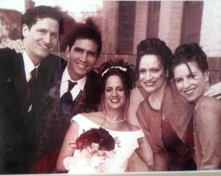Jim Caviezel and Kerri Browitt's wedding ceremony.