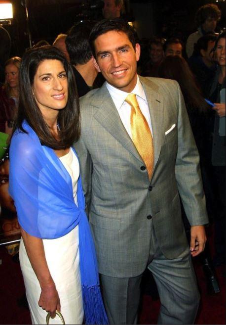 Jim Caviezel with wife, Kerri Browitt.