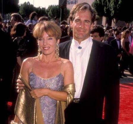 Krista Neumann and her husband, Scott Bakula arrived at the 42nd Annual Primetime Emmy Awards.