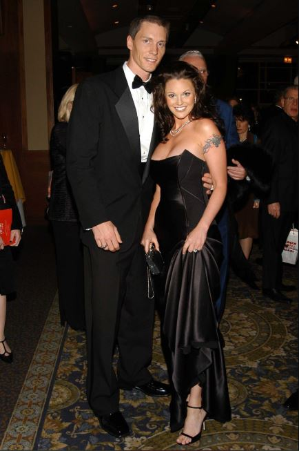 Kris Benson with his ex-wife, Anna Benson.