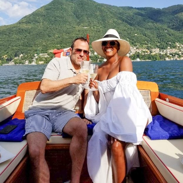 Steven Greener and his wife, Tamron Hall enjoying their vacation.