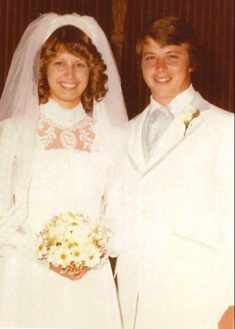 Dan Woods and Courtney Sanders' wedding ceremony.
