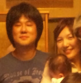 Chiaki with her spouse and daughter, Nami