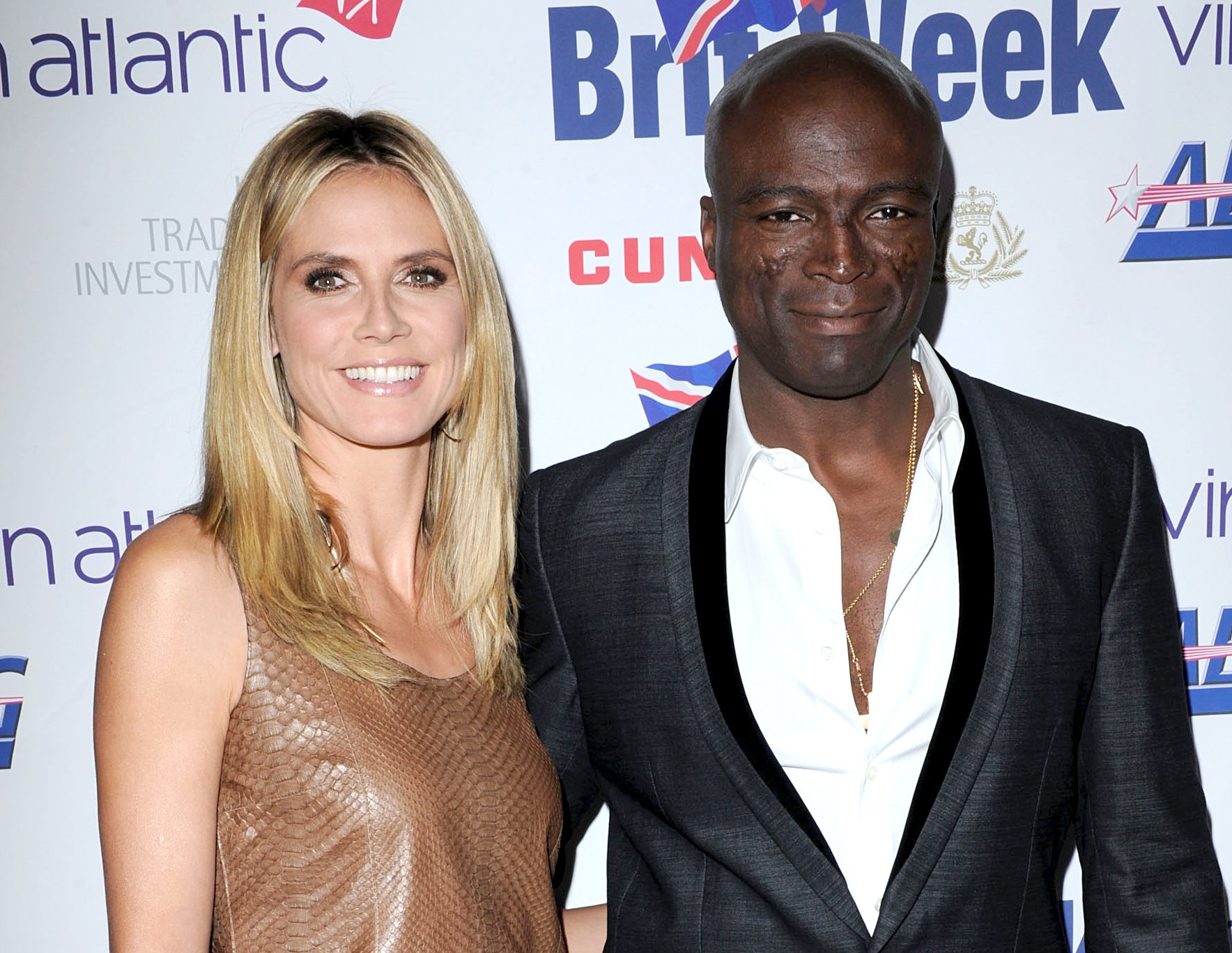 Heidi Klum with her formr husband Seal in the award ceremony
