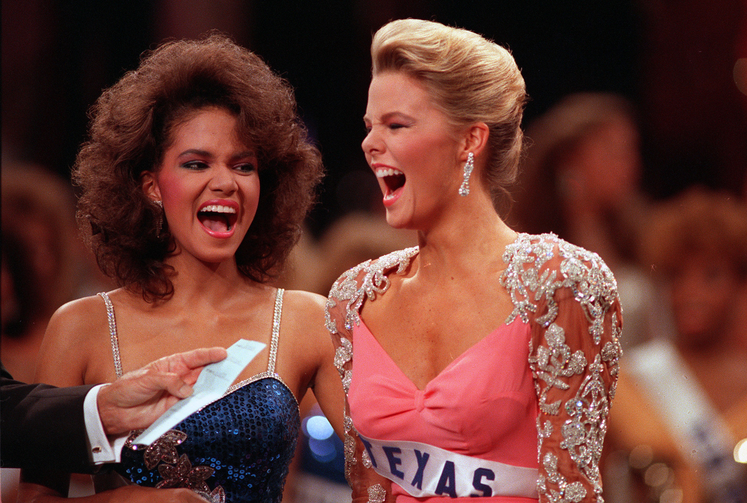 Christy Fichtner during the Miss Universe competition