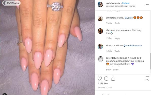 Sasha Clements engement ring