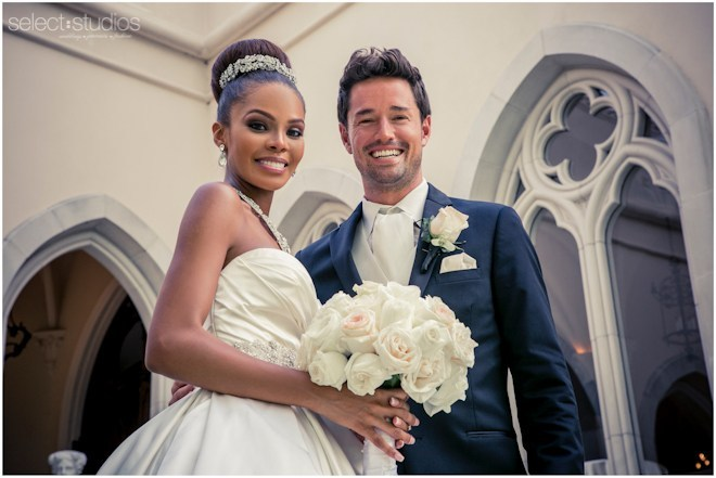 Max Sebrechts with Crystle Stewart in their wedding day