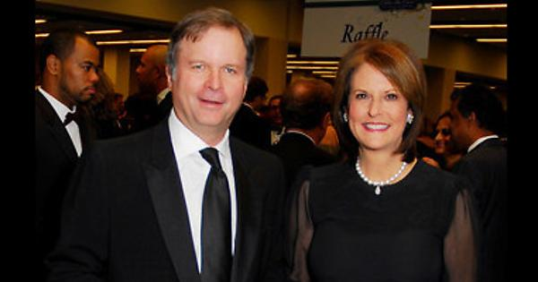 Lance Morgan (left) with his ex-wife Gloria Borger (right)