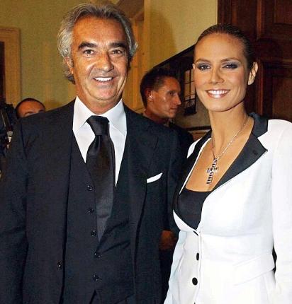 Heidi Klum with her ex boyfriend Flavio Briatore