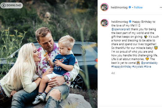 Heidi Montag wished her husband on his birthday I