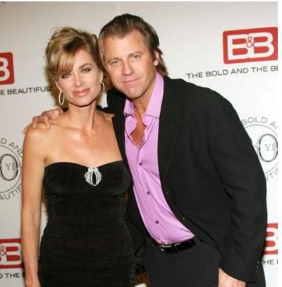 Vincent Van Patten with his wife