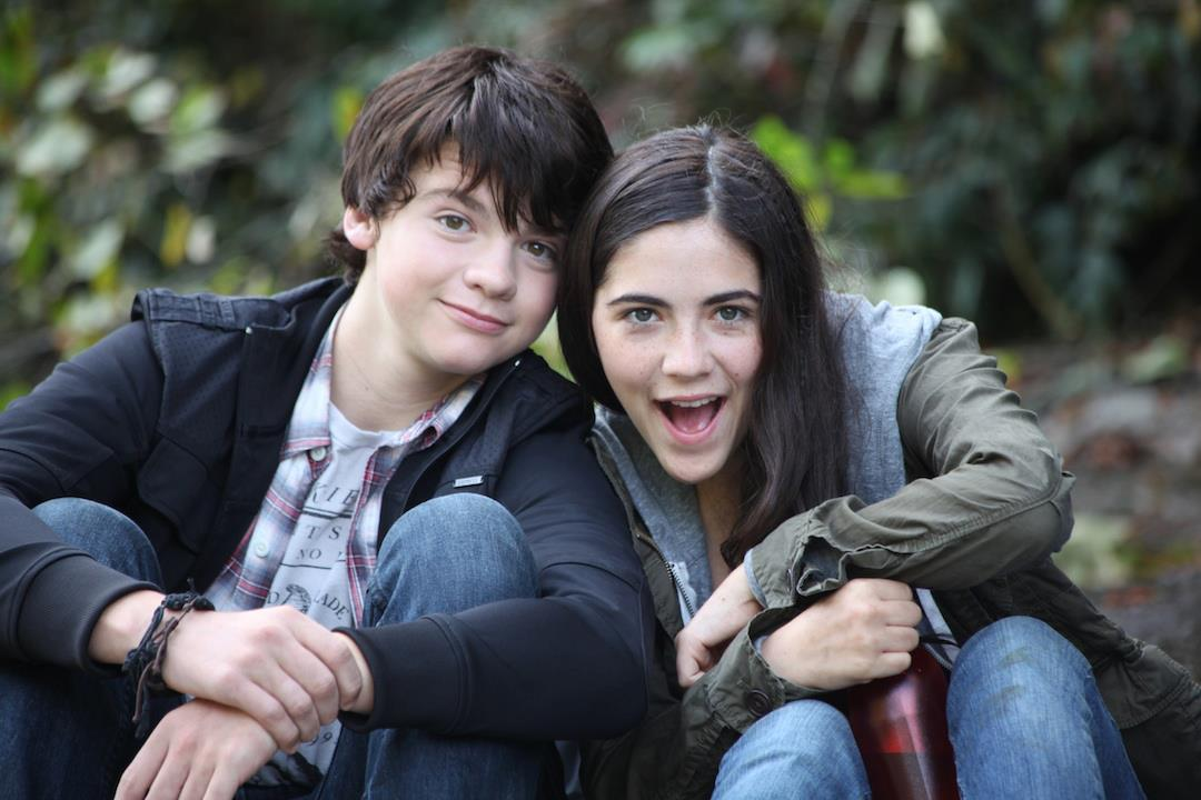 Joel Courtney with Isabelle Fuhrma