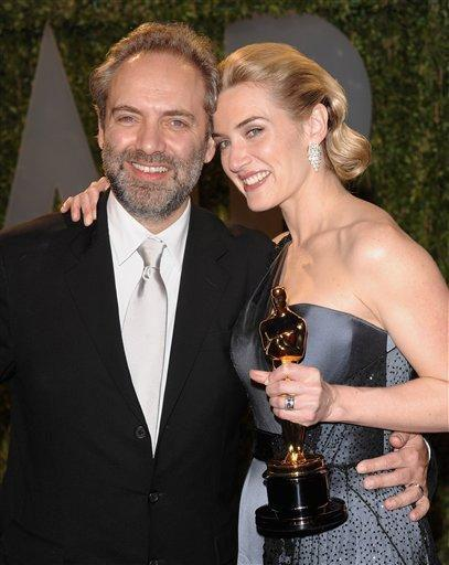 Mia Honey Threapleton with her ex husband on the award ceremony