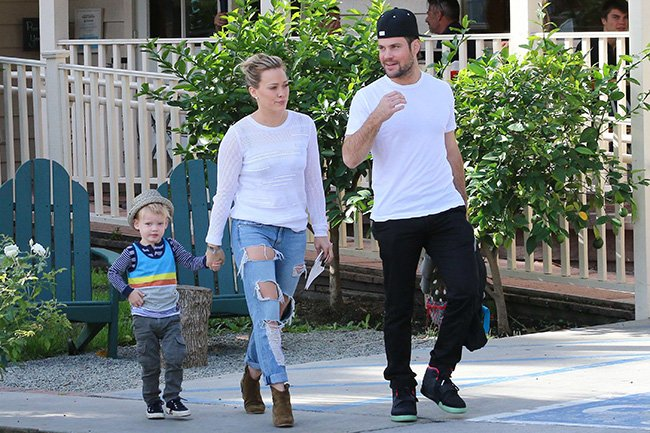 The former couple have joint custody of their son