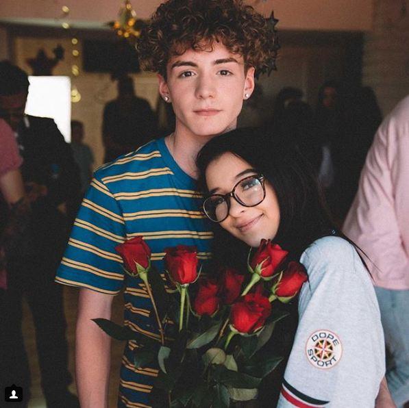 Danielle Cohn with her boyfriend