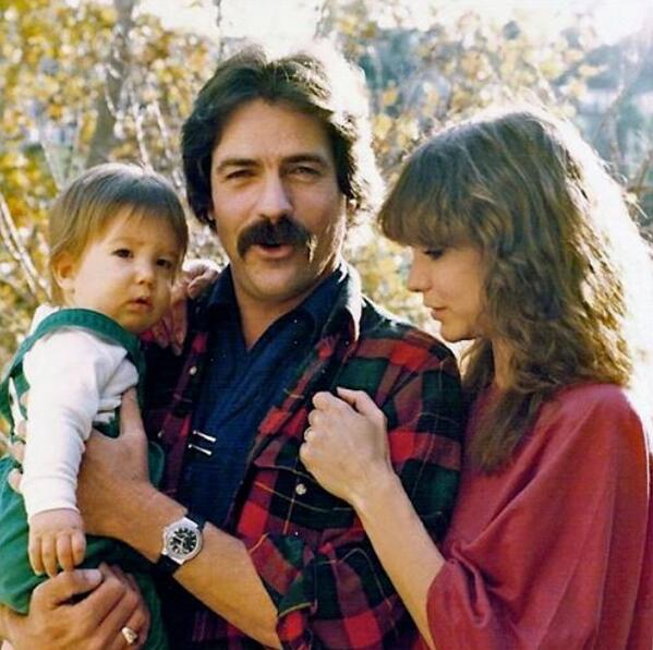 Jess Walton and her son and husband