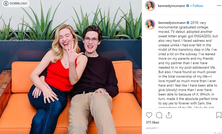 Kennedy McMann and her fiance Sam