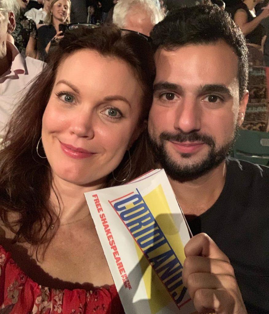 Bellamy with her current boyfriend, Pedro