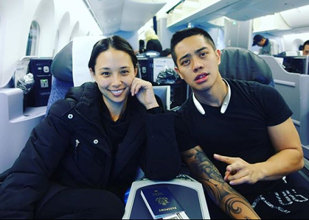 Brian Puspos and his girlfriend Aja Dang