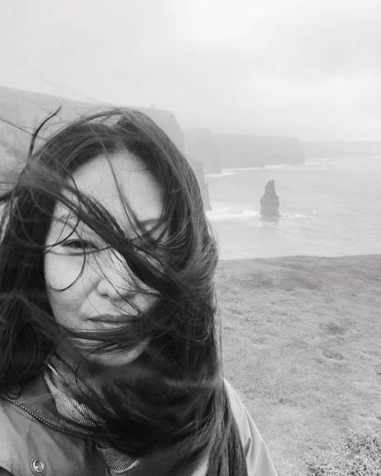 Elizabeth Anweis enjoying her vacation in Cliffs of Moher in Ireland.
